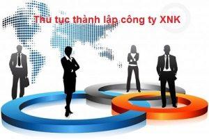 thành lập công ty xuất nhập khẩu