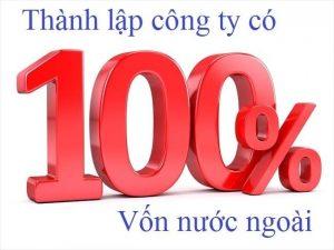 thành lập công ty tnhh 100% vốn nước ngoài