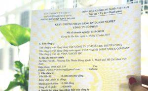 giấy chứng nhận thành lập doanh nghiệp
