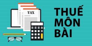 tiểu mục thuế môn bài