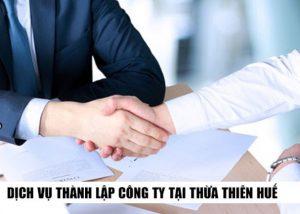 thành lập công ty tại Thừa Thiên Huế